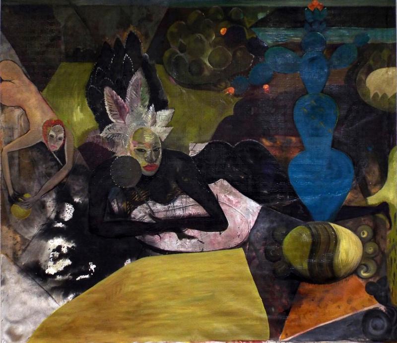 Stano Cerny. Eslovaquia, 1956. Diosa de los Nopales. Bienal Rufino Tamayo, 2016